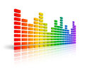 Rainbow graphic equalizer Stock Photo