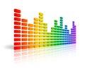 Rainbow graphic equalizer Royalty Free Stock Photo