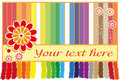 Rainbow greeting card Royalty Free Stock Photos