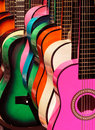 Rainbow guitars 2 Royalty Free Stock Photo