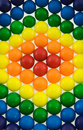 Rainbow Gumballs Stock Photo