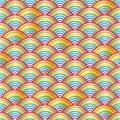 Rainbow half line bright seamless pattern
