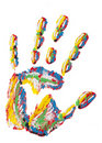 Rainbow handprint isolated Royalty Free Stock Photography