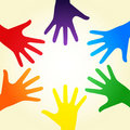 Rainbow hands Royalty Free Stock Photos