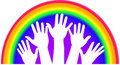 Rainbow Hands Royalty Free Stock Photo