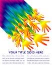 Rainbow hands design. Stock Photo