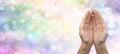 Rainbow Healing Reiki Share Banner Royalty Free Stock Photo