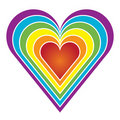 Rainbow heart Stock Photos