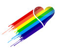 Rainbow heart and ink Royalty Free Stock Photography
