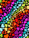 Rainbow hearts cute seamless background Royalty Free Stock Images
