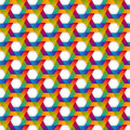 Rainbow hexagon seamless pattern