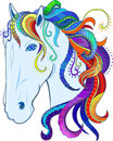 Rainbow horse. Vector