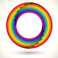 Rainbow icon. Royalty Free Stock Photo