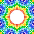 Rainbow kaleidoscope vector colorful background seamless Stock Images