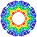 Rainbow kaleidoscope vector vibrant circle this is file of eps format Royalty Free Stock Photography