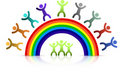 Rainbow kids Stock Photography