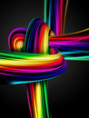 Rainbow knot Stock Image
