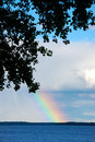 Rainbow on the Lake Royalty Free Stock Photo