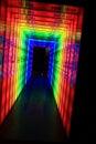 rainbow light door