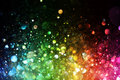 Rainbow of lights on black Royalty Free Stock Photos