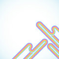 Rainbow lines Stock Photos