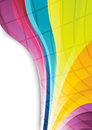 Rainbow lines abstract background clip art Stock Photo