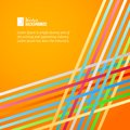 Rainbow lines over orange background vector illustration Stock Photography