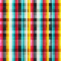 Rainbow lines seamless pattern with grunge effect eps Royalty Free Stock Photos