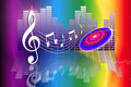 Rainbow Make Music Royalty Free Stock Photo