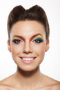 Rainbow makeup Royalty Free Stock Image