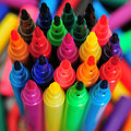 Rainbow marker pens Royalty Free Stock Image