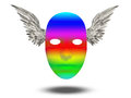 Rainbow mask color with wings Stock Image