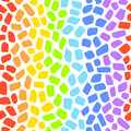 Rainbow mosaic seamless vector pattern Royalty Free Stock Photo