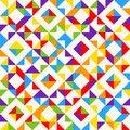 Rainbow mosaic tiles, abstract geometric background, seamless vector pattern. Royalty Free Stock Photo