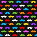 Rainbow Moustaches on Black Seamless Background