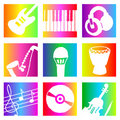 Rainbow music Royalty Free Stock Photos