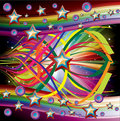 Rainbow Music Background Royalty Free Stock Photos