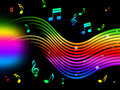 Rainbow Music Background Means Colorful Lines And Melody Royalty Free Stock Photo