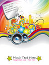 Rainbow Music Event Flyer Royalty Free Stock Image