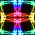 Rainbow neon grid on dark semaless background Royalty Free Stock Photo