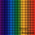 Rainbow Neon Shimmering Grid. Geometric Abstract Background Royalty Free Stock Photo