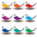 A Rainbow of Nine hammocks