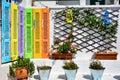 Rainbow nook in glossa skopelos island sporades greece Royalty Free Stock Photos