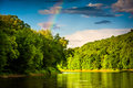 Rainbow over the Delaware River, at Delaware Water Gap National Royalty Free Stock Photo