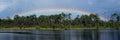 Rainbow Over a Florida Lake Royalty Free Stock Photo