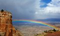 Rainbow over Grand Junction Royalty Free Stock Photo