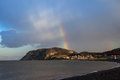 Rainbow over the Little Orme Royalty Free Stock Image