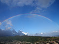 Rainbow over Manoa Stock Photo