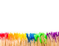 Rainbow paint background with white copy space Stock Photos