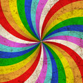 Rainbow painted Stock Image